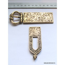 "14th century knightly buckle strap end set ""kígyóspuszta"""