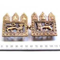 13.th century decorated cloak clasp